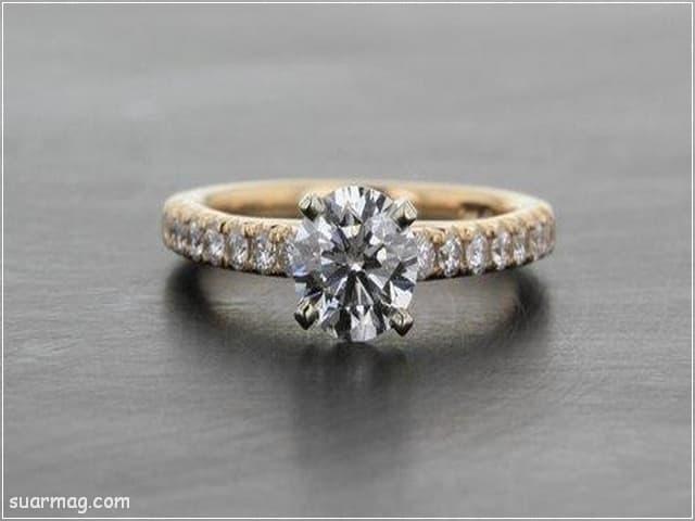 اشكال محابس ذهب 6   Gold Engagement Rings Forms 6