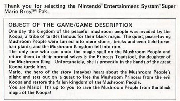 Super Mario Bros.  - Game Description
