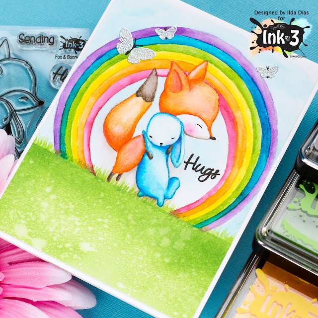 Rainbow Hugs Friendship Card | Using Atelier Inks | Ink On 3