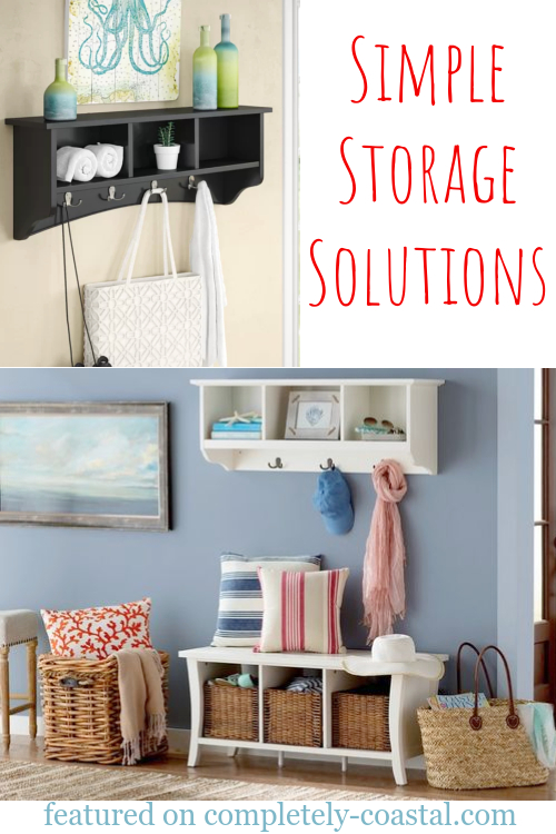 Simple Entryway Storage Solution for Small Spaces