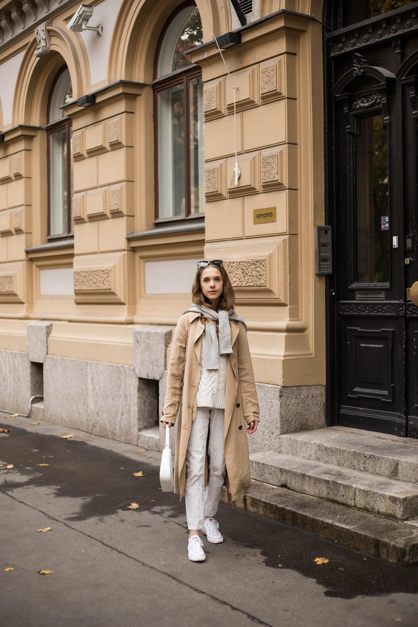Kuinka pukea neule takin päälle // How to wear knit on top of a coat