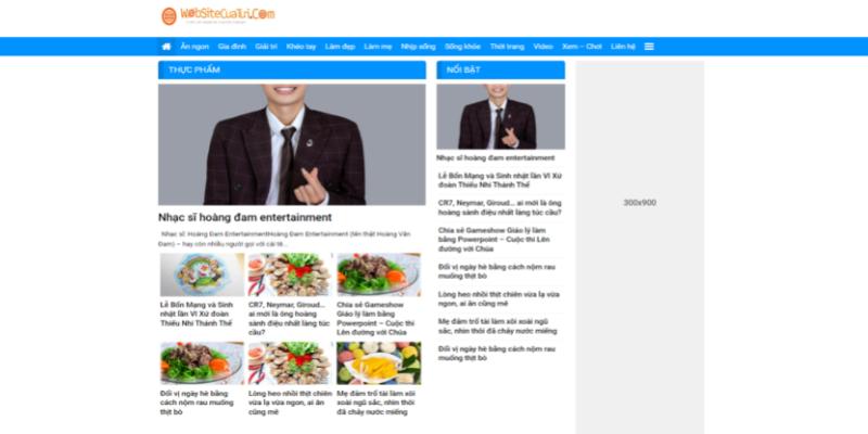 Mẫu website tin tức miễn phí