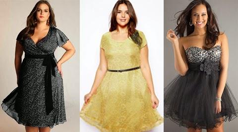 model baju gaun untuk wanita gemuk 2016