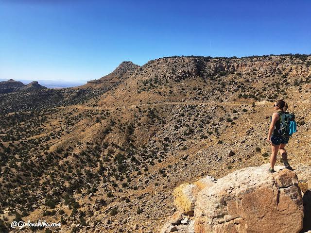 Hiking to Mt.Elliott, Book Cliff Mountains