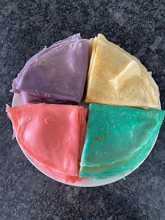 DéguCrêpes colorées d'après recette box Pandacraft