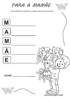 atividade letra m