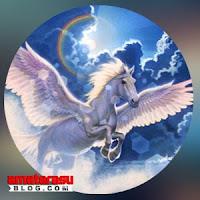 Gambar ilustrasi makhluk mitologi Kuda Sembrani di Jawa Kuningan.