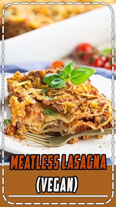 This vegan lasagna is SO delicious! It's one of my favorite vegan pasta recipes! It's the perfect comfort food and super easy to make! #vegan #veganrecipes #lasagna