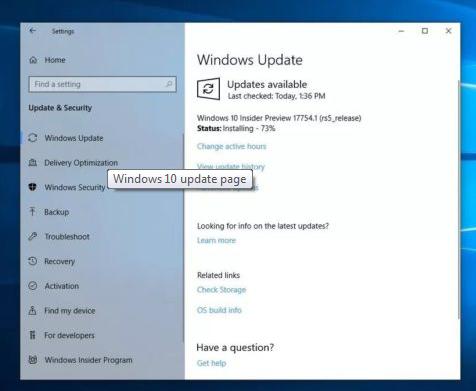Windows 10 October 2020 New update
