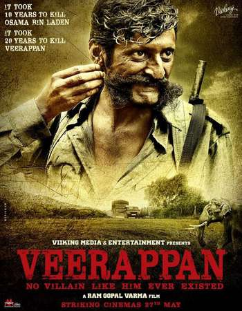 Poster Of Veerappan 2016 Hindi 350MB HDRip 480p Watch Online Free Download downloadhub.net