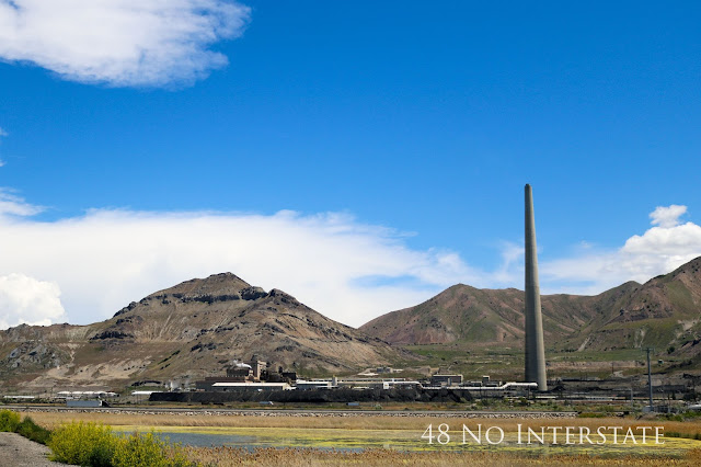48 No Interstate back roads cross country coast-to-coast road trip Utah Garfield Smelter Rio Tinto