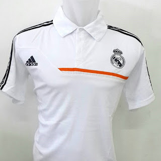 Jual baju polo Real Madrid warna putih terbaru Adidas musim 2015/2016