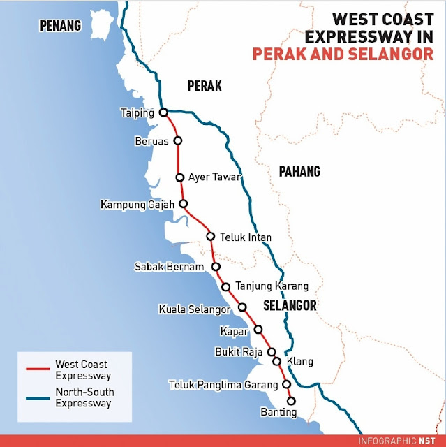 map Lebuhraya Pesisiran Pantai Barat (WCE)