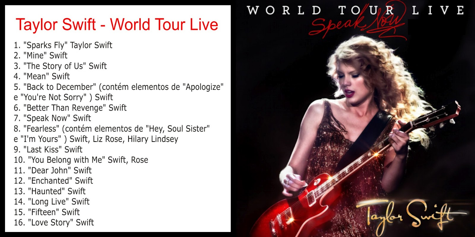 Speak Now World Tour Live - Taylor Swift Switzerland
