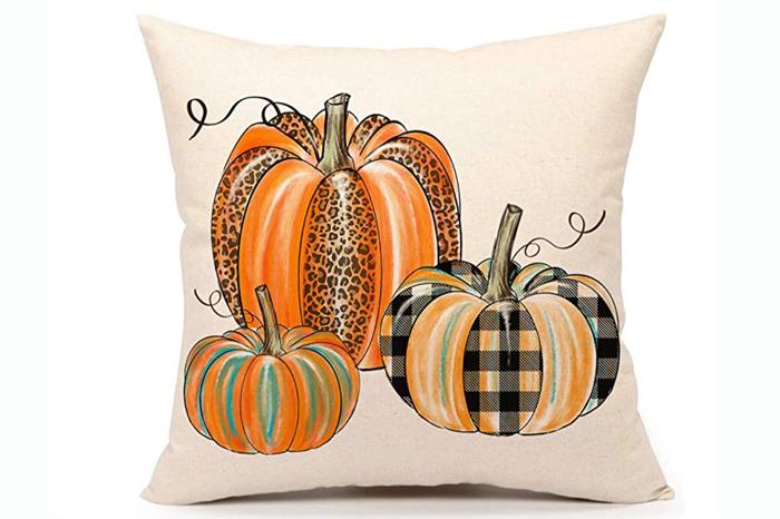 Patterned Pumpkins Pillow