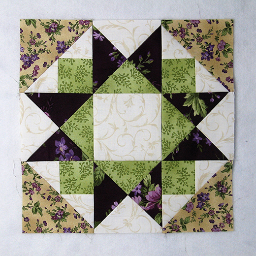 Another Morning Star Quilt Block designed by Elaine Huff of Fabric406