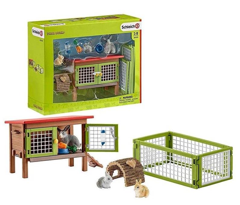 schleich rabbit hutch set