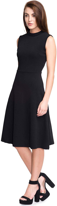 Addyvero Women's Cotton and Crush A-Line Dress