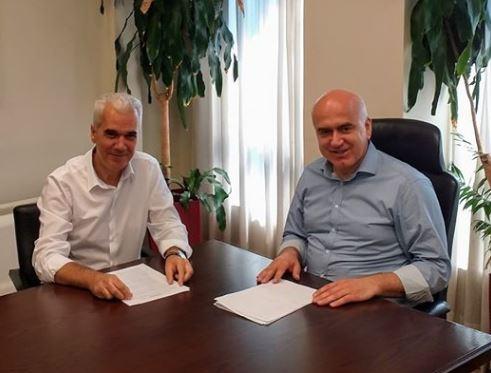 Συνάντηση του νέου Δημάρχου Σουφλίου Παν. Καλακίκου  με τον Περιφερειάρχη Ανατολικής Μακεδονίας Θράκης.