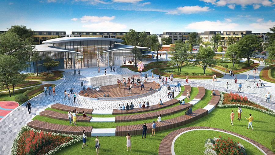 Gem Sky World dành nhiều diện tích cho công viên và tiện ích phục vụ cư dân