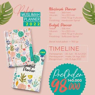 Pre Order Muslimah Planner 2022