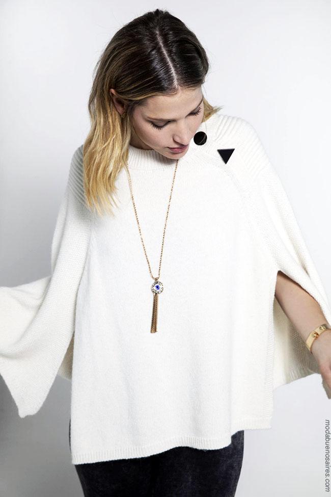 Capas tejidas otoño invierno 2018 moda mujer Rapsodia.