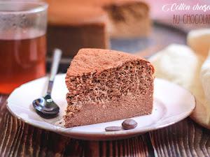 Cotton cheesecake au chocolat - avec seulement 3 ingrédients !