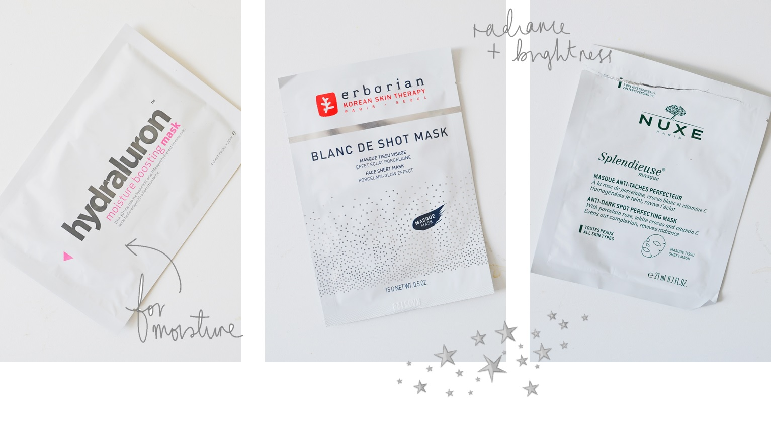 the best sheet masks hydraluron nuxe erborian