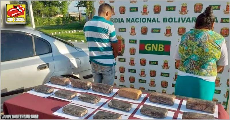 Capturados madre e hijo por traficar y vender marihuana en el Estado Bolívar