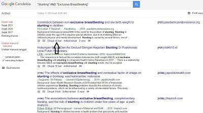 hasil teknik snowballing untuk mencari jurnal internasional di google scholar