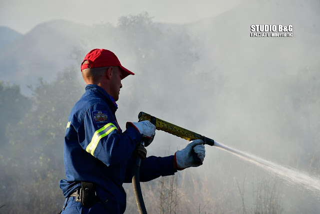 Πυρκαγιά στη Δήμαινα Αργολίδας