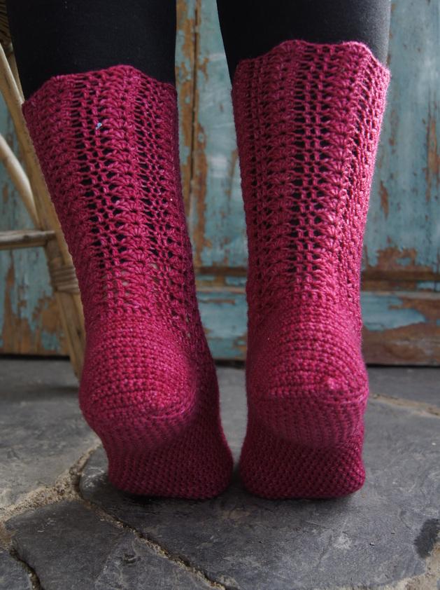 Virkattujen sukkien kantapää