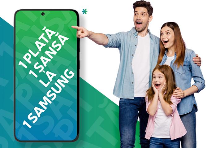 """Concurs KRUK Romania """"1 plata, 1 sansa!"""" - Participa si poti castiga unul dintre cele 10 telefoane Samsung puse in joc"""