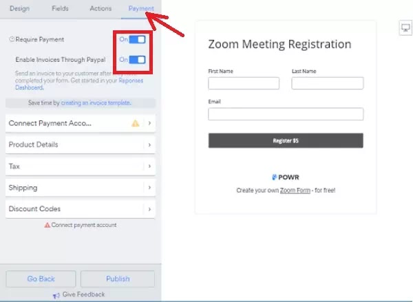 Cara Membuat Formulir Pembayaran untuk Zoom Meeting-7