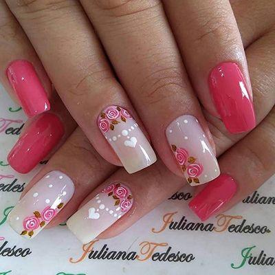 unhas decoradas rosa 4