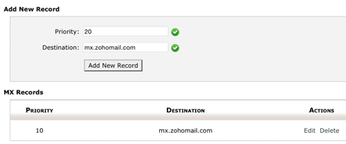 Add MX Reocrd on your hosting cPanel