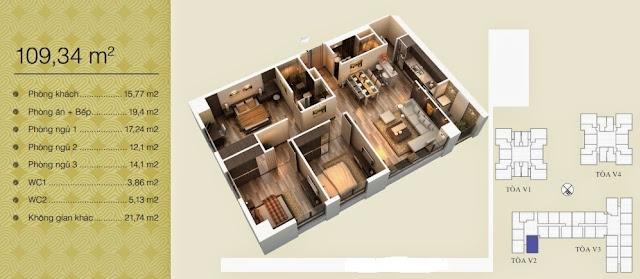 Căn 109,34 m2