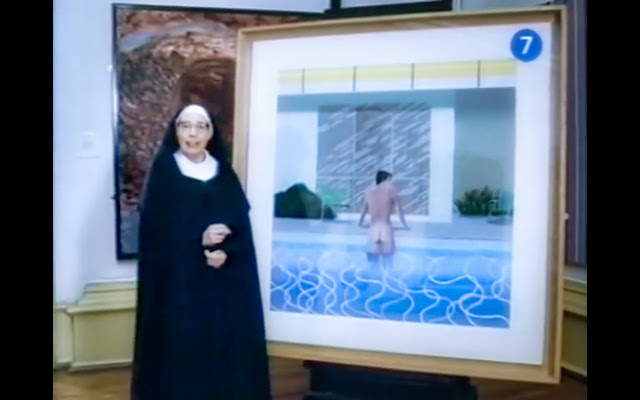 Peter Getting Out of Nick's Pool - David Hockney