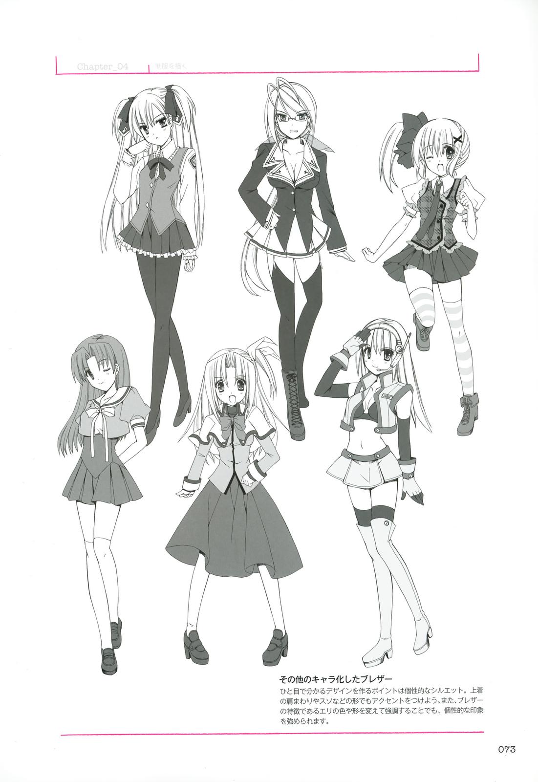 Kumpulan Soal Pelajaran 1 Desain Baju Anime Perempuan