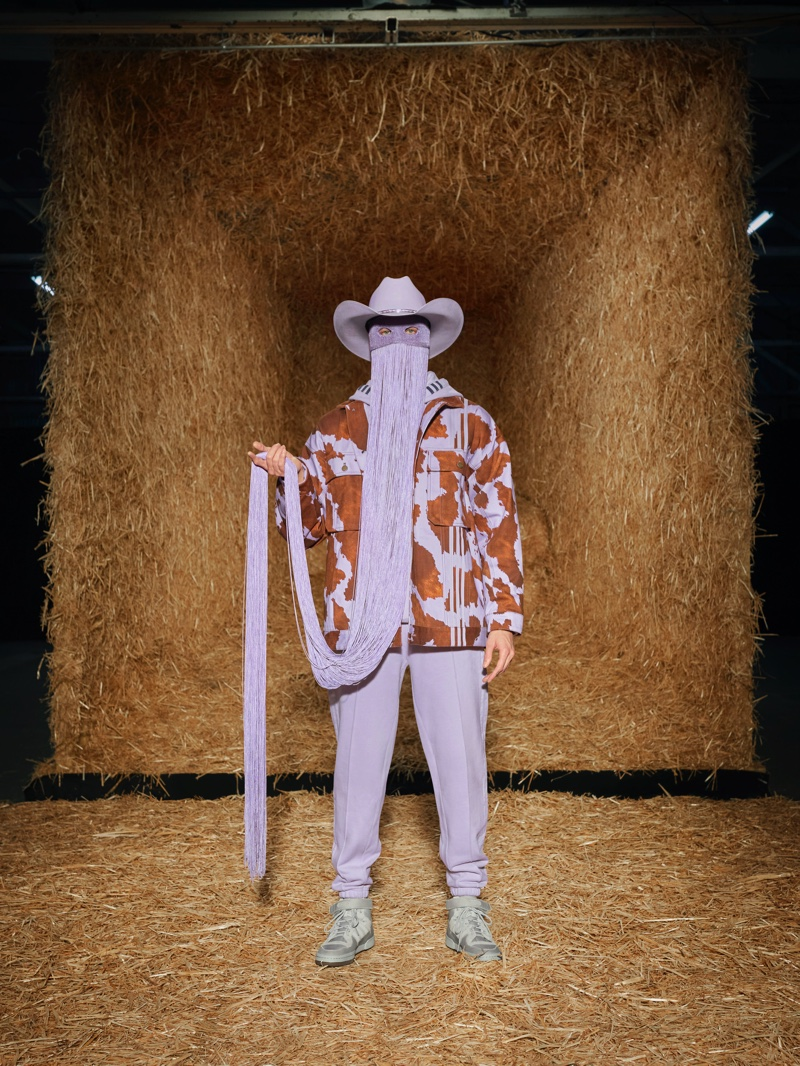 Wearing fringe, Orville Peck fronts adidas x Ivy Park Rodeo campaign.