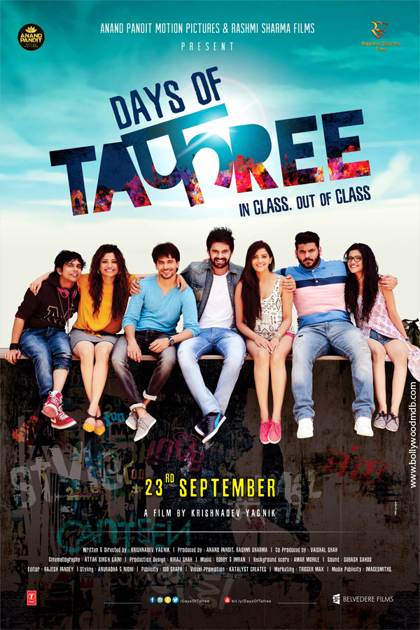 full cast and crew of bollywood movie Days of Tafree 2017 wiki, Yash Soni, Ansh Bagri, Sanchay Goswami, Nimisha Mehta, story, release date, Actress name poster, trailer, Photos, Wallapper