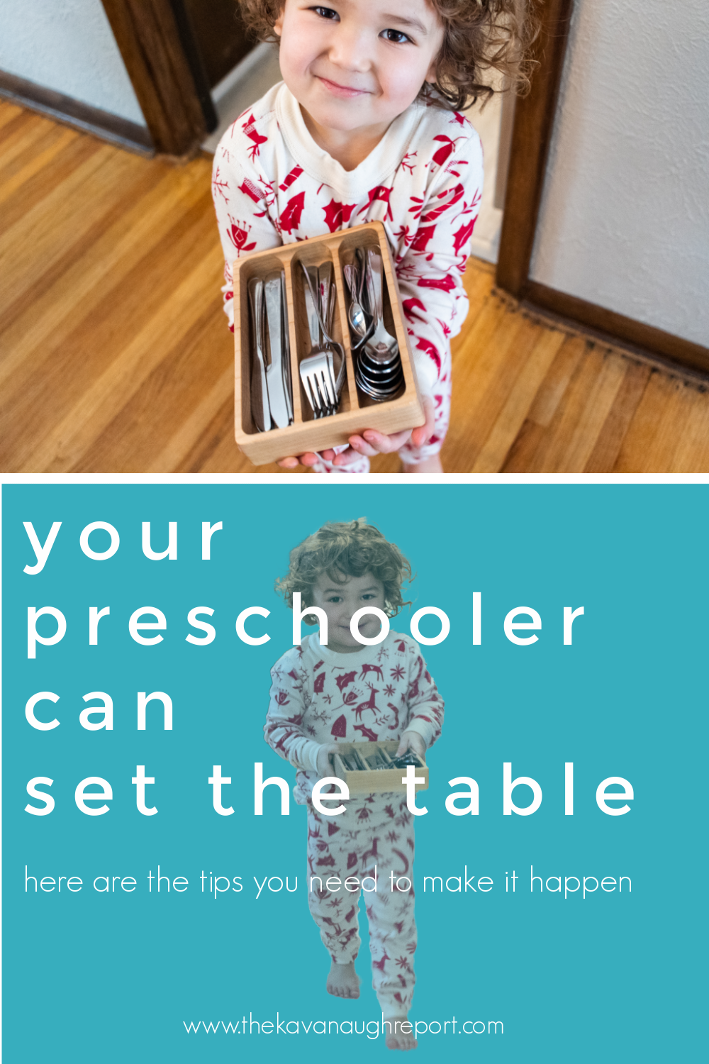 Easy tips for getting your preschooler to set the table. This fun Montessori activity can engage preschoolers in meaningful chores around the house.