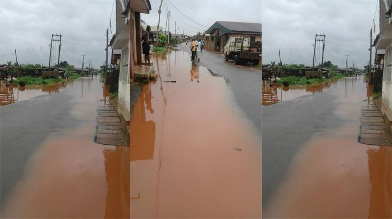 See the state of a Benin road after rainfall yesterday