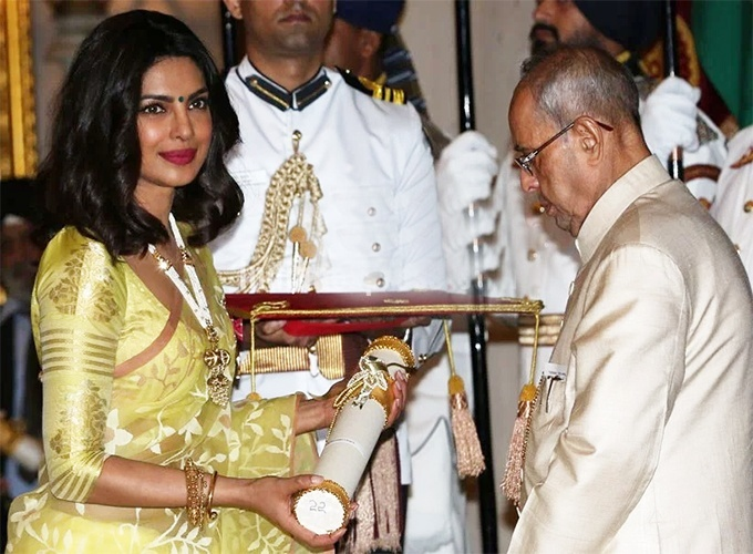 Priyanka Chopra on receiving Padma Shri