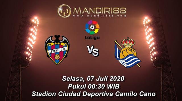 Prediksi Levante Vs Real Sociedad, Selasa 07 Juli 2020 Pukul 00.30 WIB