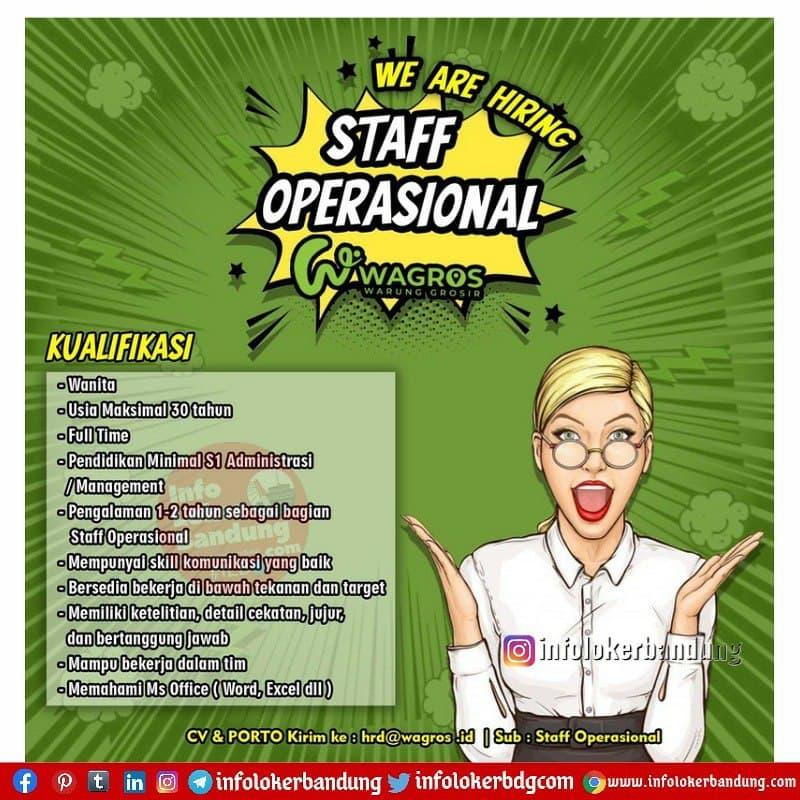 Lowongan Kerja Staff Operasional PT. Wagros Digital Indonesia Bandung April 2021