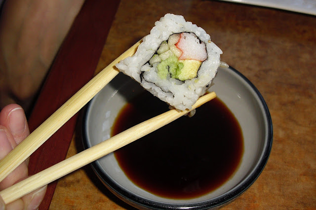 Use Asian dipping sauce with sushi.