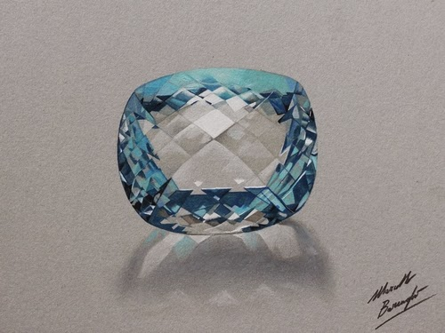 06-Aquamarine-Stone-Graphic-Designer-Illustrator-Marcello-Barenghi-Hyper-Realistic-Every-Day-Items-www-designstack-co