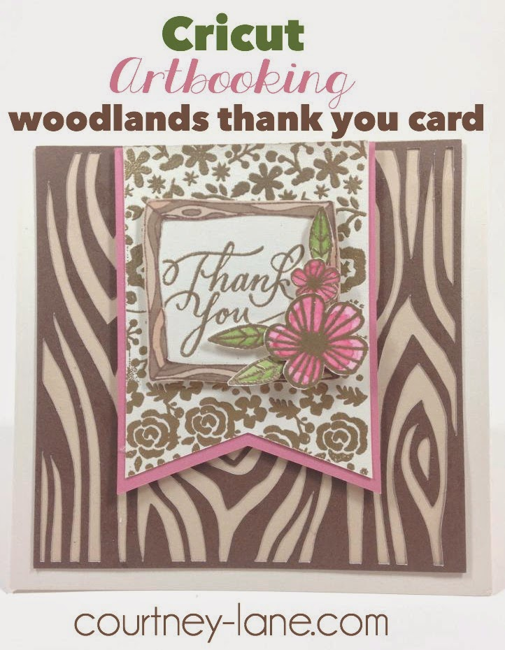 Cricut Artbooking Woodlands thank you card