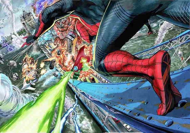 Spider-Man: Far From Home Premium Japanese BD. Art Oleh Yusuke Murata